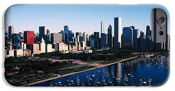 Chicago iPhone Cases - Skyscrapers At The Waterfront, Chicago iPhone Case by Panoramic Images