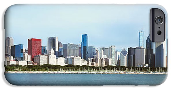 Sears Tower iPhone Cases - Skyscrapers At The Waterfront, Lake iPhone Case by Panoramic Images
