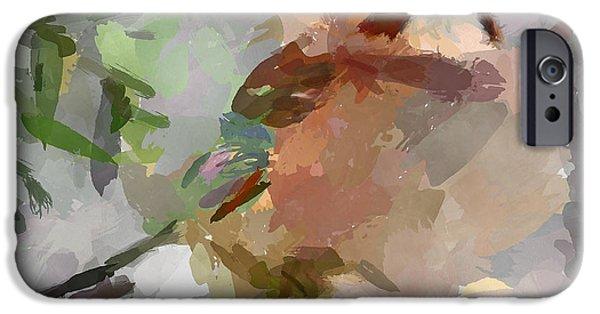 House Pet Digital Art iPhone Cases - Snow Bird iPhone Case by Yury Malkov