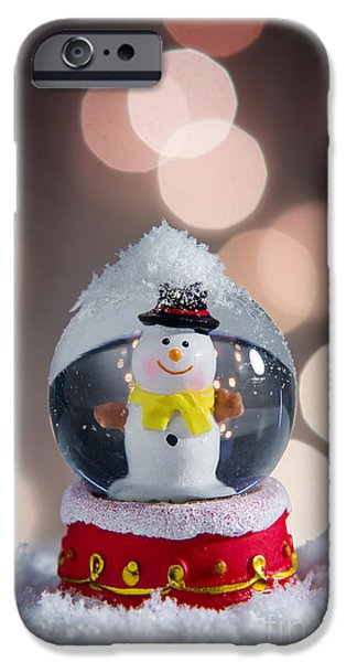 Wintertime Photographs iPhone Cases - Snow Globe iPhone Case by Carlos Caetano