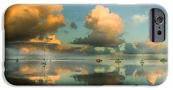 Fog Mist iPhone Cases - SOUNDS of SILENCE iPhone Case by Karen Wiles