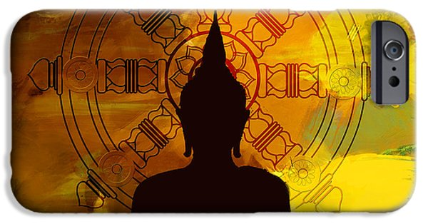 Buddhism Paintings iPhone Cases - South Asian Art iPhone Case by Corporate Art Task Force