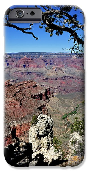 South Rim iPhone Cases - South Rim of the Grand Canyon iPhone Case by Thomas R Fletcher