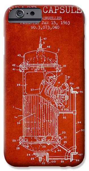 Space Capsule Patent from 1963 iPhone Case by Aged Pixel