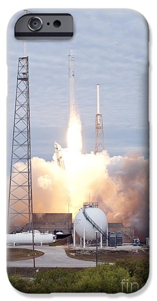 Technological iPhone Cases - Spacex Crs-2 Launch, March 2013 iPhone Case by Nasa