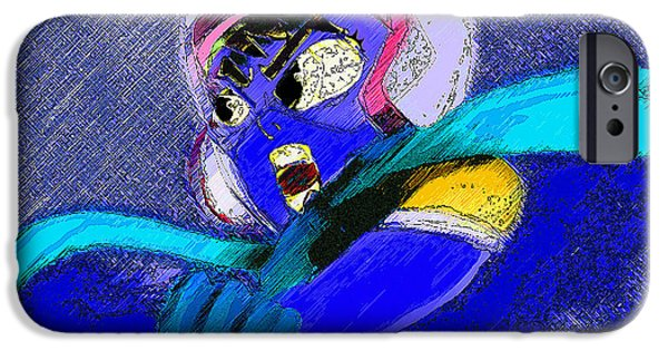 Mixed Media Pastels iPhone Cases - Speed Racer  iPhone Case by Jazzboy