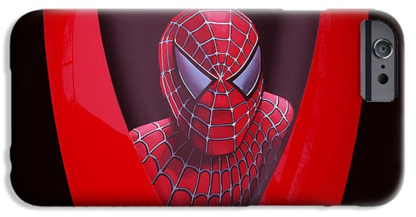 Spider iPhone Cases - Spider-Man on Spyder iPhone Case by Paul  Meijering