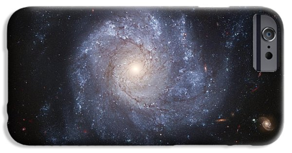 Galactic Paintings iPhone Cases - Spiral Galaxy iPhone Case by Nasa