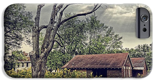 Haunted House Photographs iPhone Cases - Spooky Place iPhone Case by Charline Xia