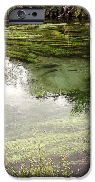 Spring water iPhone Case by Les Cunliffe