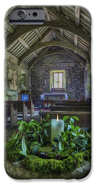 St Beunos Church iPhone Case by Ian Mitchell