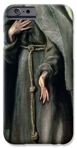 Stigma iPhone Cases - St Francis of Assisi iPhone Case by El Greco Domenico Theotocopuli