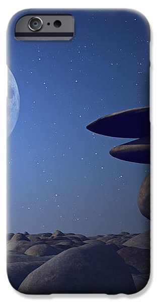 stacked stones in moonlight iPhone Case by Aleksey Tugolukov