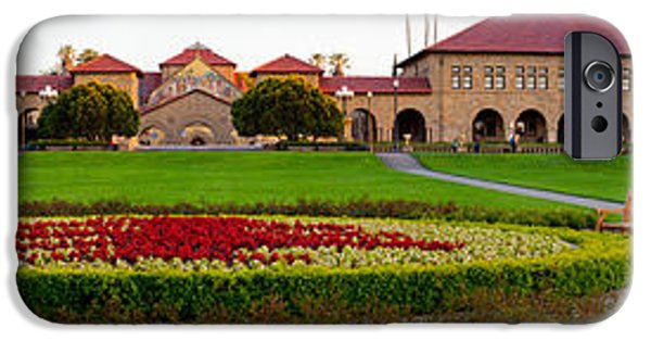 Garden Scene iPhone Cases - Stanford University Campus, Palo Alto iPhone Case by Panoramic Images