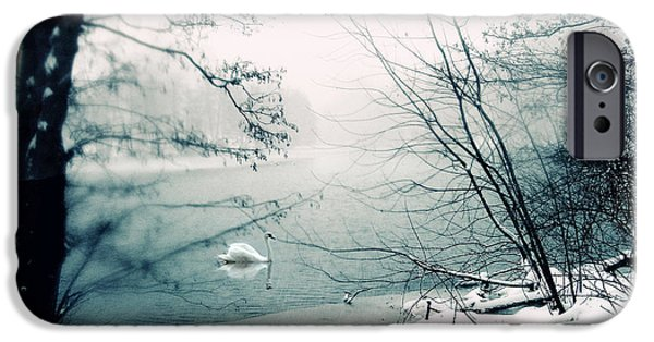 Swans... iPhone Cases - Stark iPhone Case by Jessica Jenney
