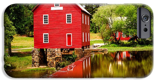 Grist Mill iPhone Cases - Starrs Mill iPhone Case by Robert Hainer