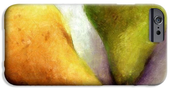 Pears Digital iPhone Cases - Stems iPhone Case by Michelle Calkins