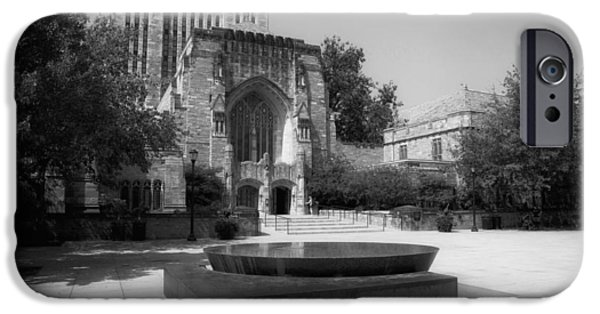 Sterling iPhone Cases - Sterling Memorial Library and the Womens Table - Yale University iPhone Case by Mountain Dreams