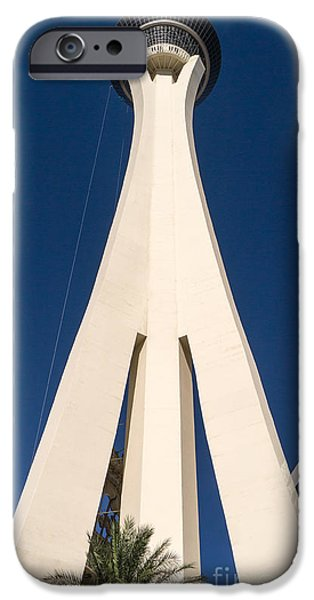 Illumination iPhone Cases - Stratosphere Las Vegas iPhone Case by Edward Fielding