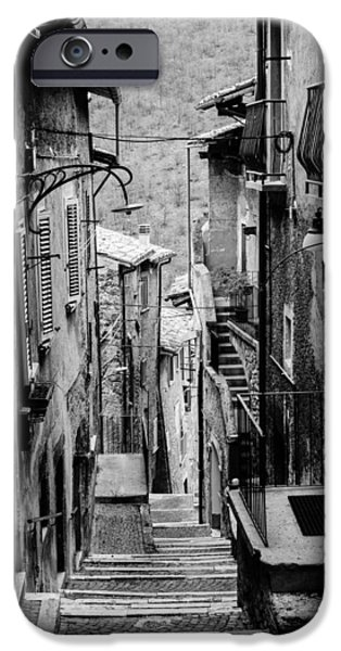 Built Structure iPhone Cases - Streets of Scanno - Italy  iPhone Case by Andrea Mazzocchetti