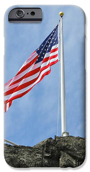 Old Glory iPhone Cases - Strength iPhone Case by Rick  Monyahan