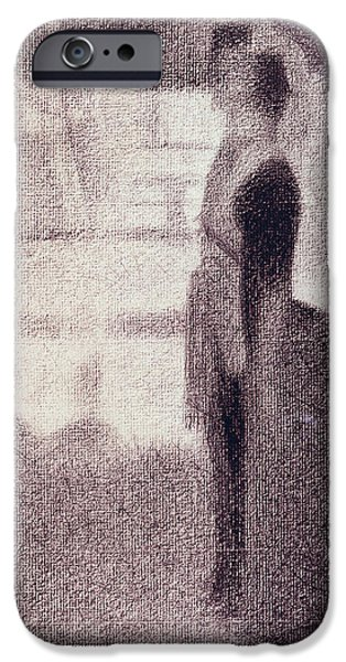 Preparatory Study iPhone Cases - Study for Sunday Afternoon on the Island of La Grande Jatte iPhone Case by Georges Pierre Seurat
