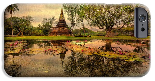 Buddhism Digital iPhone Cases - Sukhothai Historical Park iPhone Case by Adrian Evans