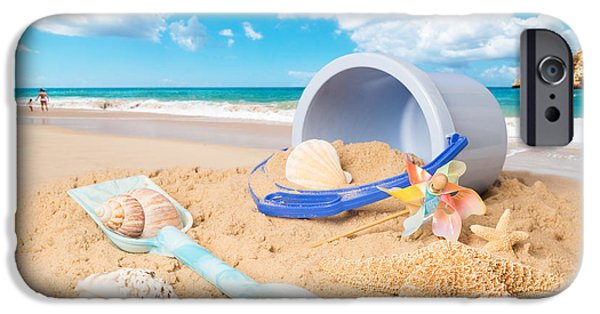 Concept Photographs iPhone Cases - Summer Beach iPhone Case by Amanda And Christopher Elwell