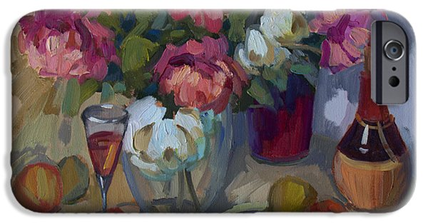 Summer iPhone Cases - Summer Peonies iPhone Case by Diane McClary