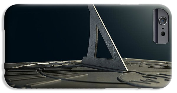 Concept Art iPhone Cases - Sundial Lost In Time iPhone Case by Allan Swart