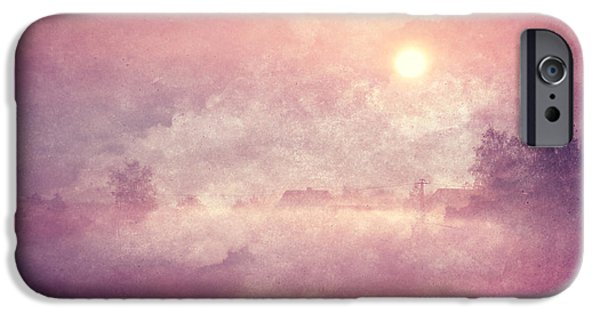 Flora Mixed Media iPhone Cases - Sunrise iPhone Case by Heike Hultsch