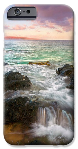 Sea iPhone Cases - Sunrise Surge iPhone Case by Mike  Dawson