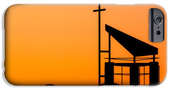 Easter Celebration iPhone Cases - Sunset Cross iPhone Case by Teri Virbickis