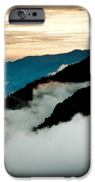 Sunset Himalayas Mountain Nepal Panaramic view iPhone Case by Raimond Klavins