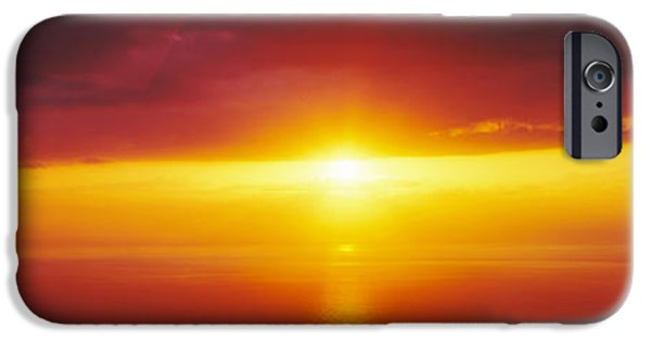 Ocean Sunset iPhone Cases - Sunset Over The Pacific Ocean, Hawaii iPhone Case by Panoramic Images