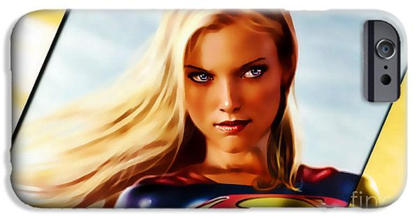 Supergirl iPhone Cases - Supergirl iPhone Case by Marvin Blaine