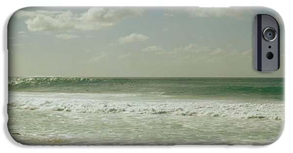 Getting Away From It All iPhone Cases - Surfer Standing On The Beach, North iPhone Case by Panoramic Images