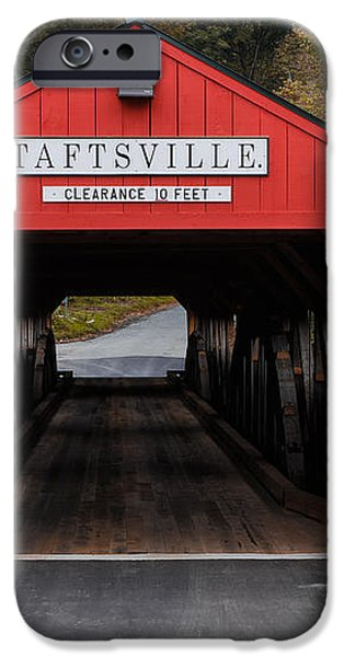Taftsville Covered Bridge Vermont iPhone Case by Edward Fielding