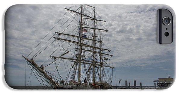 Tall Ship iPhone Cases - Tall Ship Gunilla iPhone Case by Dale Powell