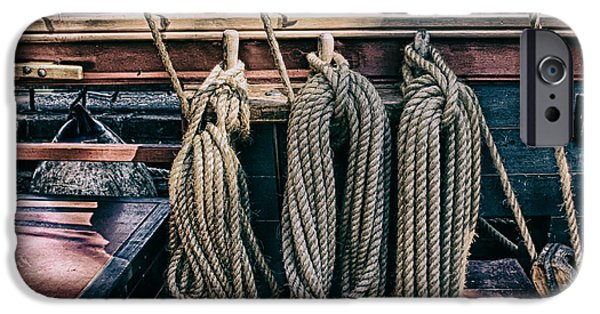 Tall Ship iPhone Cases - Tall Ship Rigging iPhone Case by James Smith