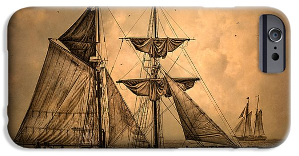 Pirate Ship iPhone Cases - Tall Ships iPhone Case by Dale Kincaid