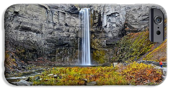 Taughannock Falls iPhone Cases - Taughannock Falls iPhone Case by Frozen in Time Fine Art Photography