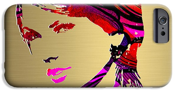 Taylor Swift iPhone Cases - Taylor Swift Gold Series iPhone Case by Marvin Blaine