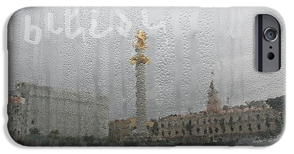 Tbilisi Photographs iPhone Cases - Tbilisi through the window in rainy autumn iPhone Case by Lali Kacharava