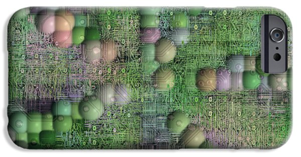 Electrical Component iPhone Cases - Technology Abstract Background iPhone Case by Michal Boubin