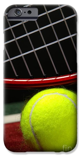 Indoor iPhone Cases - Tennis Ball iPhone Case by Olivier Le Queinec
