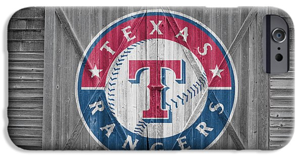 Baseball Glove iPhone Cases - Texas Rangers iPhone Case by Joe Hamilton