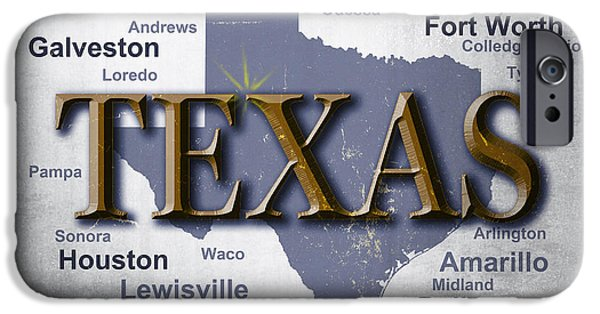 San Marco iPhone Cases - Texas State Pride Map Silhouette  iPhone Case by Keith Webber Jr