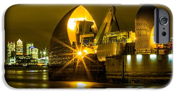 River View iPhone Cases - Thames Barrier iPhone Case by Dawn OConnor