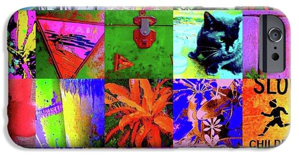 Kangaroo Digital Art iPhone Cases - The Art Of Nina Montage iPhone Case by Nina Kaye